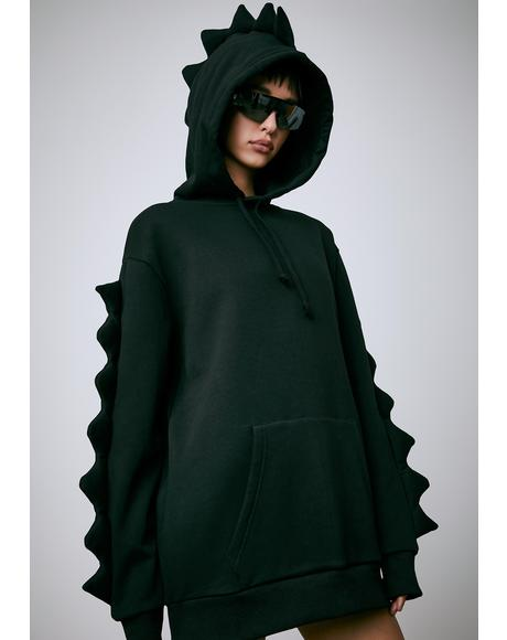 Dark Dino Mighty Oversized Hoodie