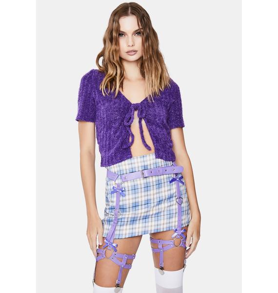 Lavender Dreams Leg Garter Harness