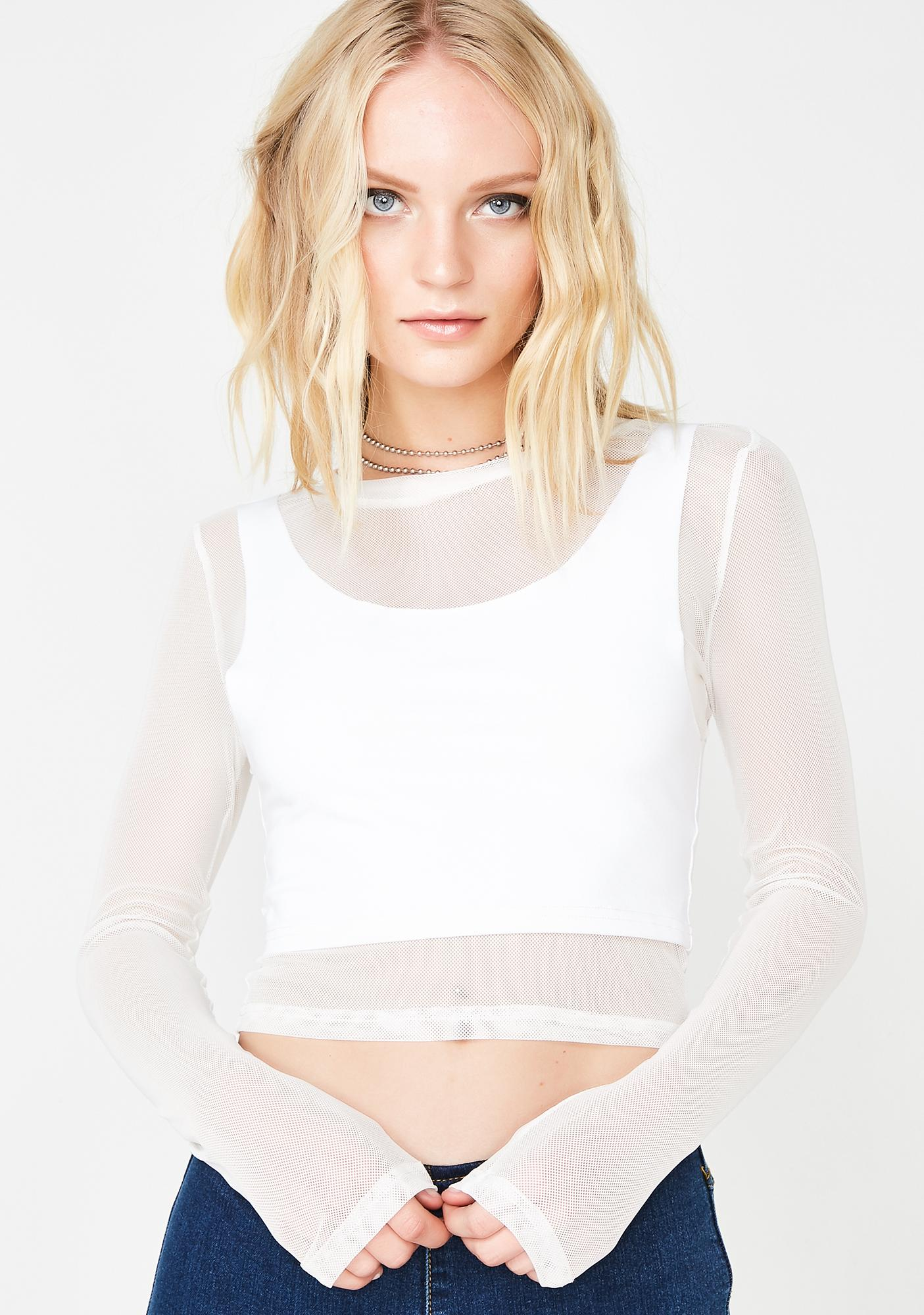 Hello Stranger Mesh Top