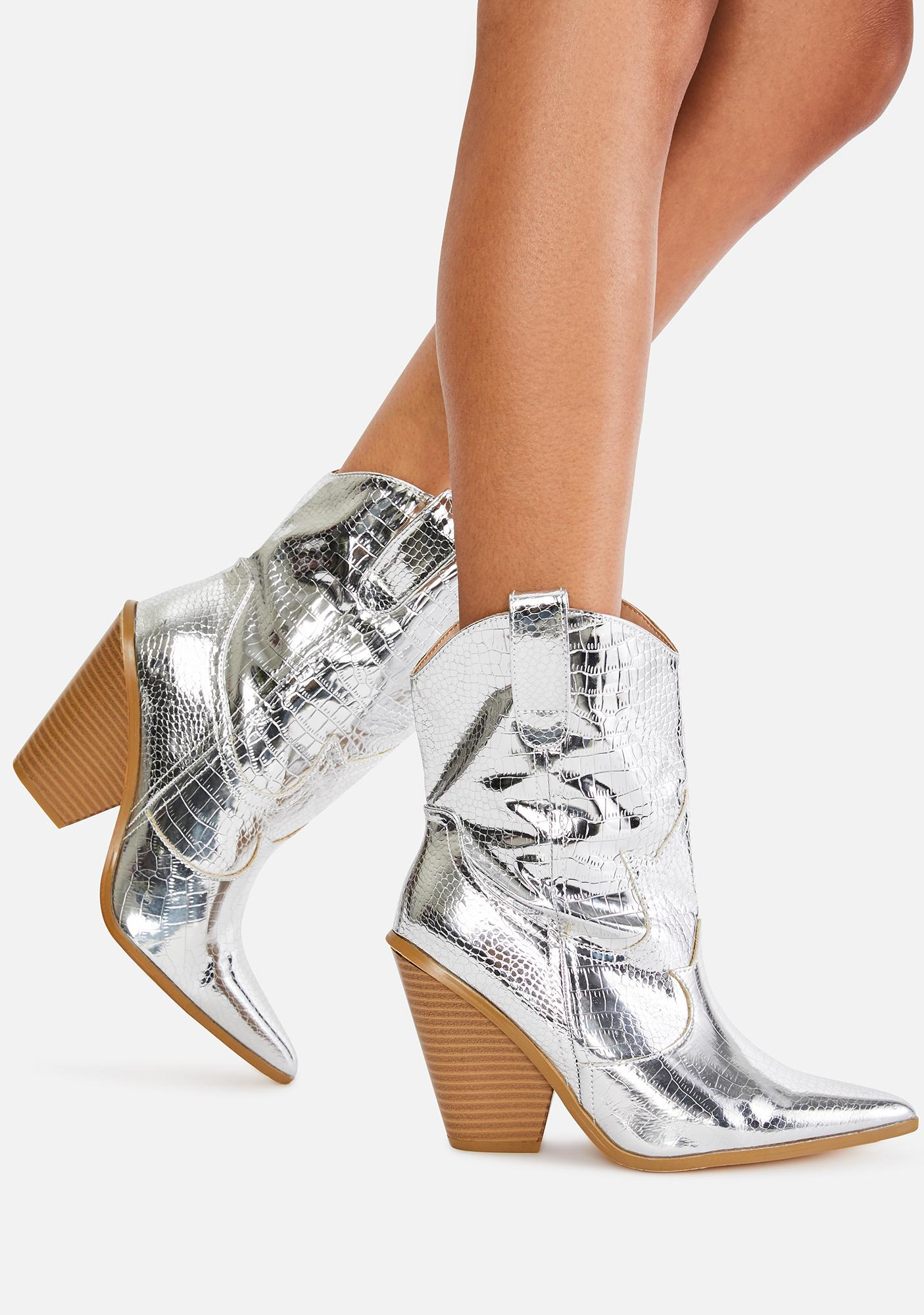 Chrome Walk My Way Cowboy Boots