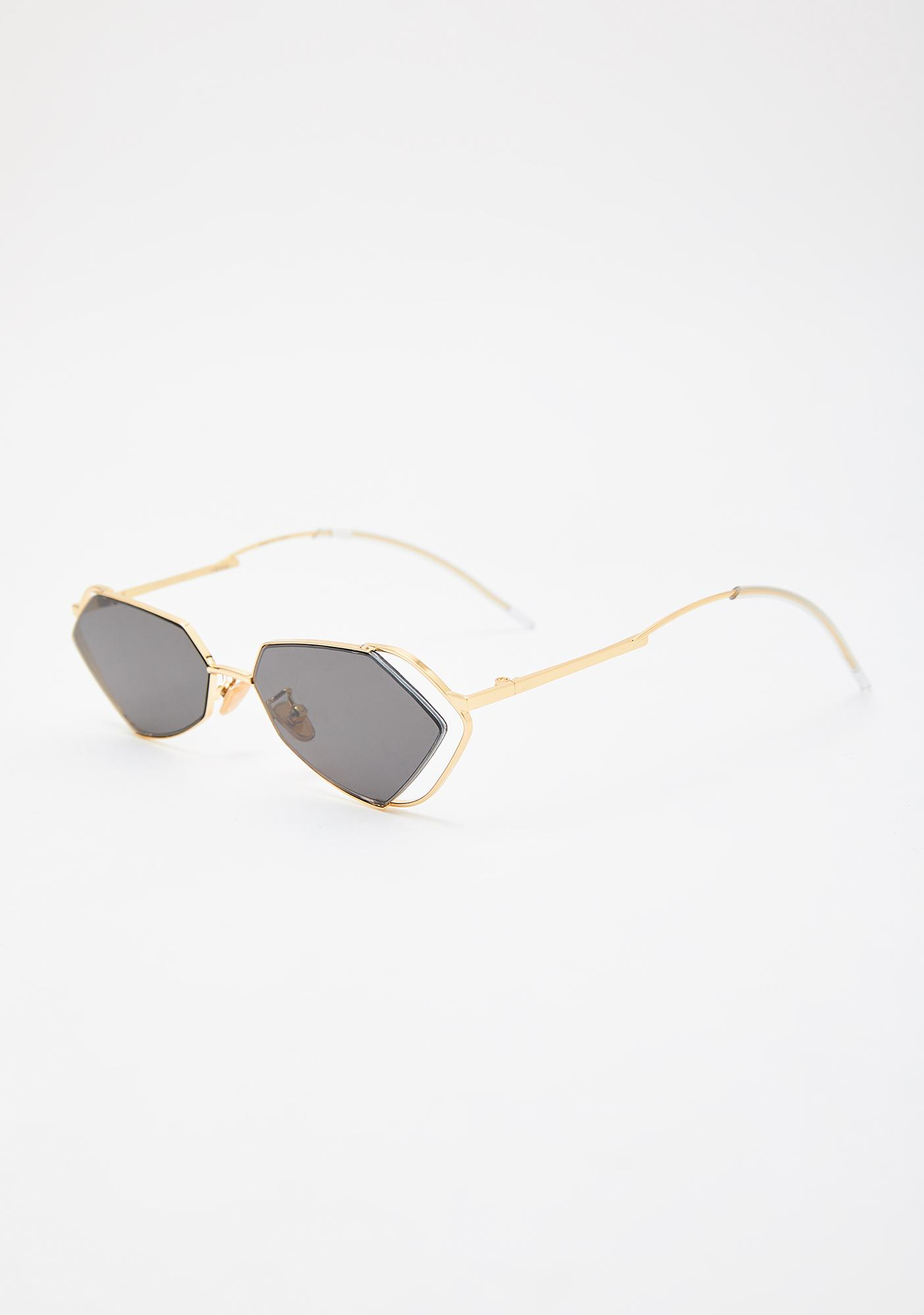 I-SEA Fever Gold With Smoke Lens Sunglasses
