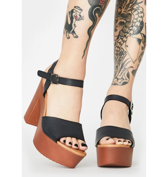 Ink Ask Me Why Block Heels