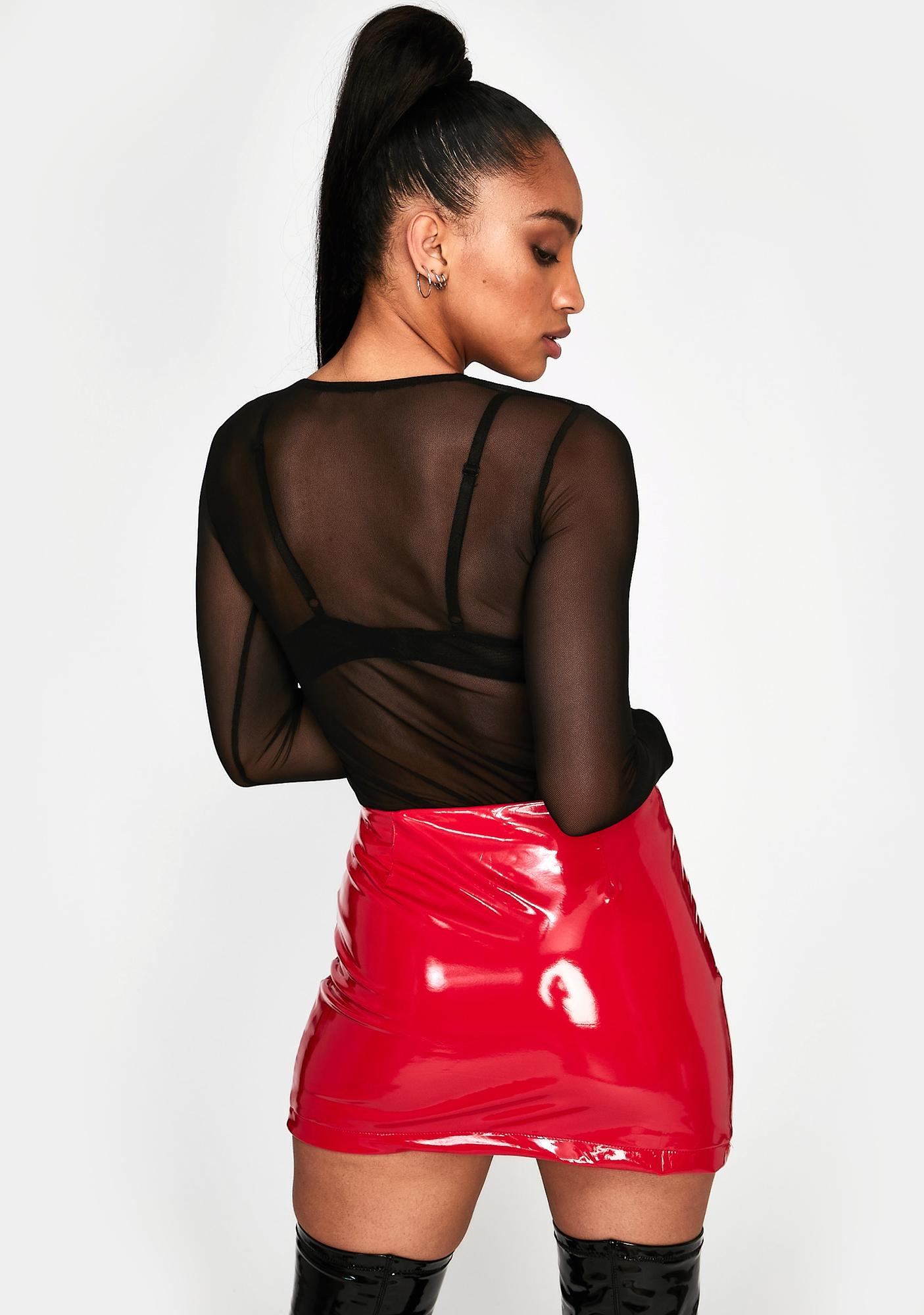 New Flex Vinyl Mini Skirt