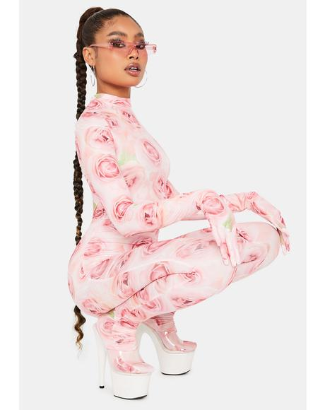 Floral Fantasy Long Sleeve Jumpsuit
