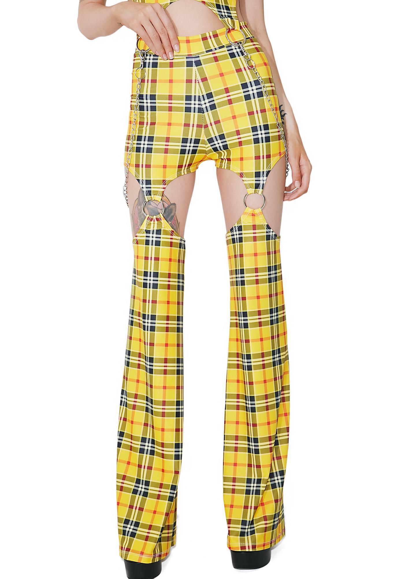 DEVOWEVO School Gurl Riot Garter Pants