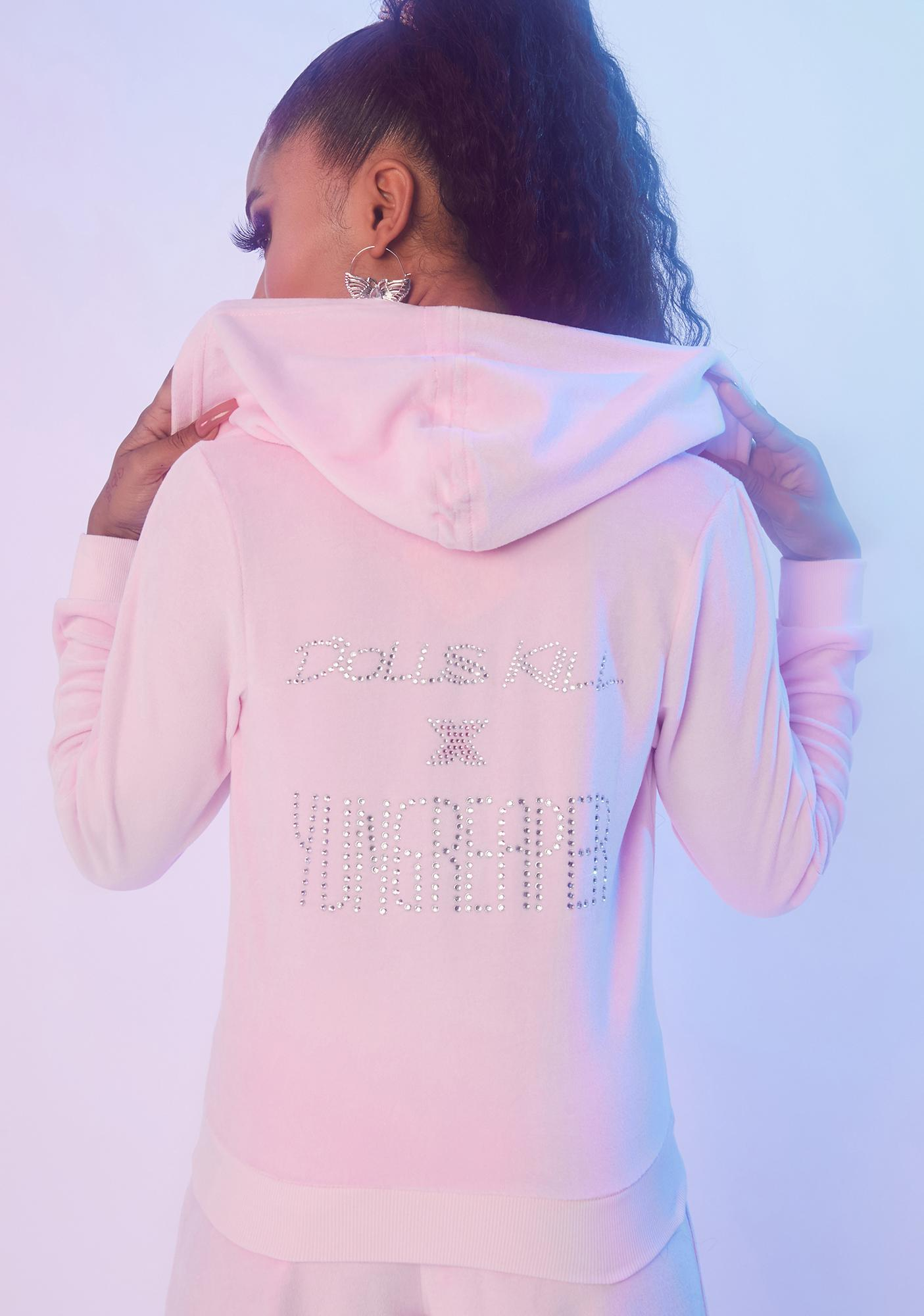 Dolls Kill x Yung Reaper 2000 N' Forever Velour Hoodie