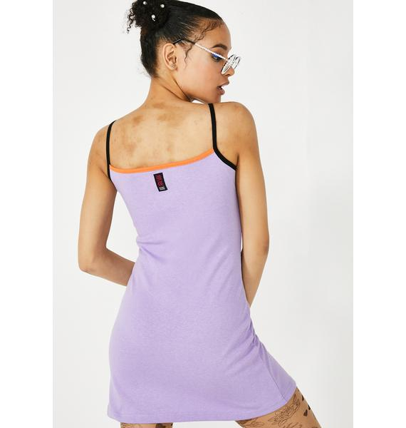 GANGYOUNG Purple NGG Mini Dress