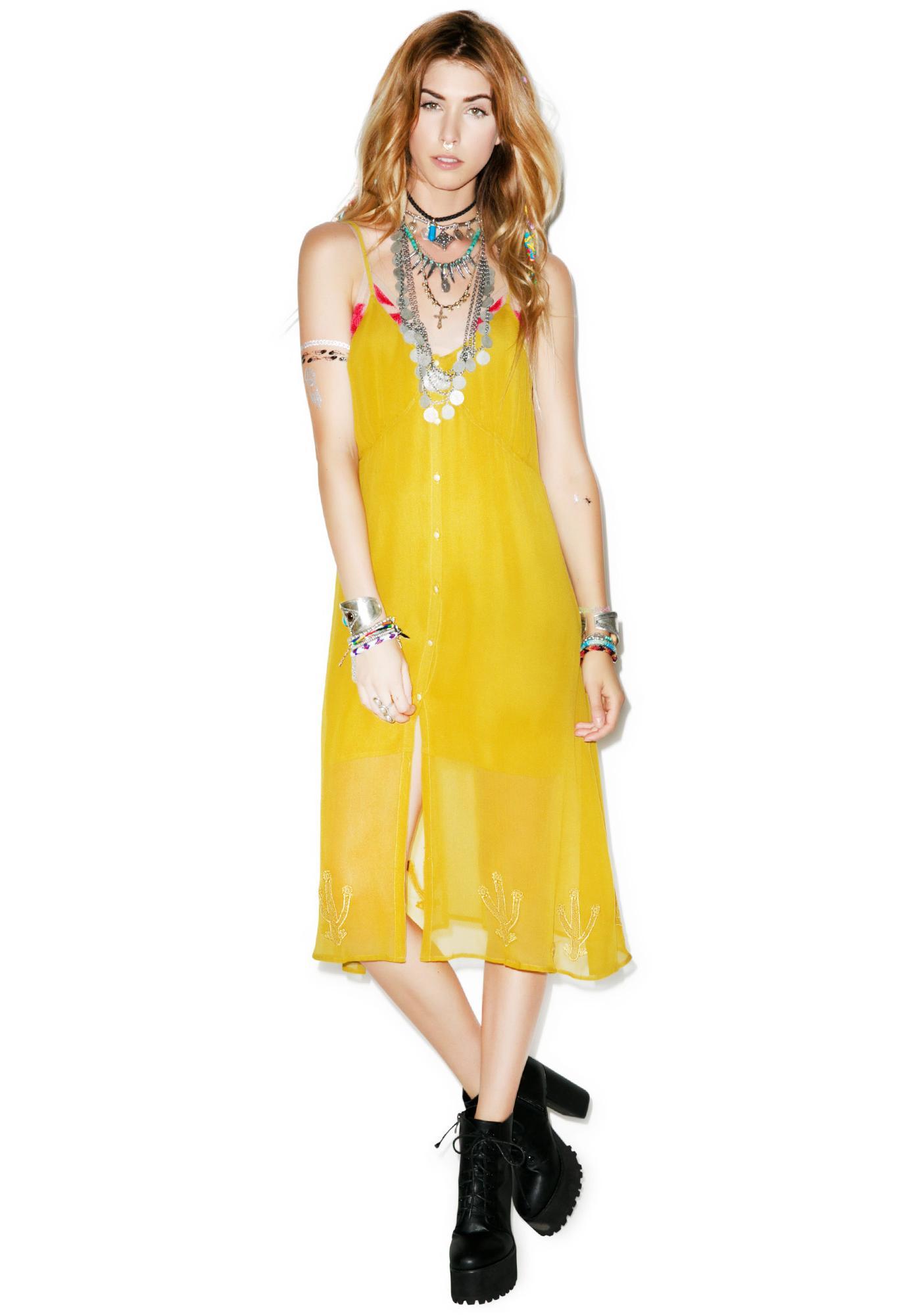 For Love & Lemons Prickly Pear Dress