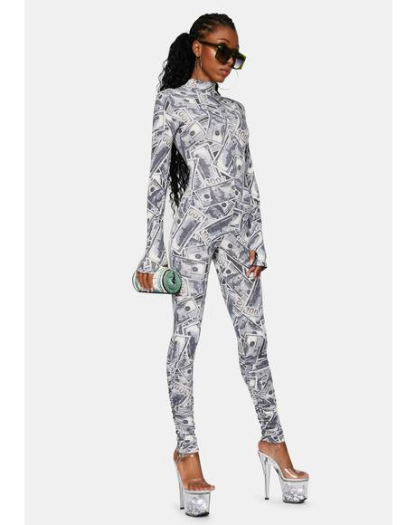 Unlimited Swipes Money Print Jumpsuit