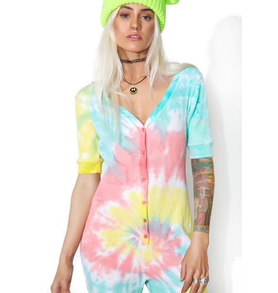 Current Mood Acid Crush Tie Dye Jumpsuit