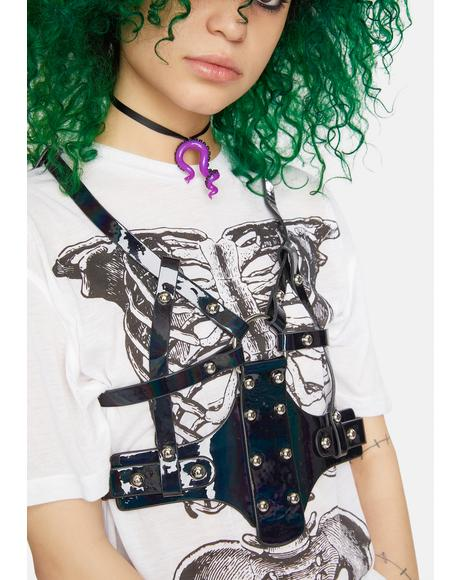 Studded Vegan Leather Harness