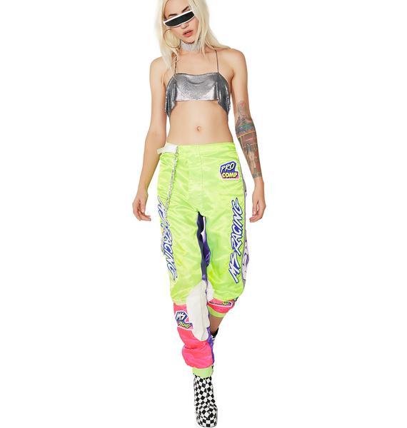 Vintage Neon Racing Pants