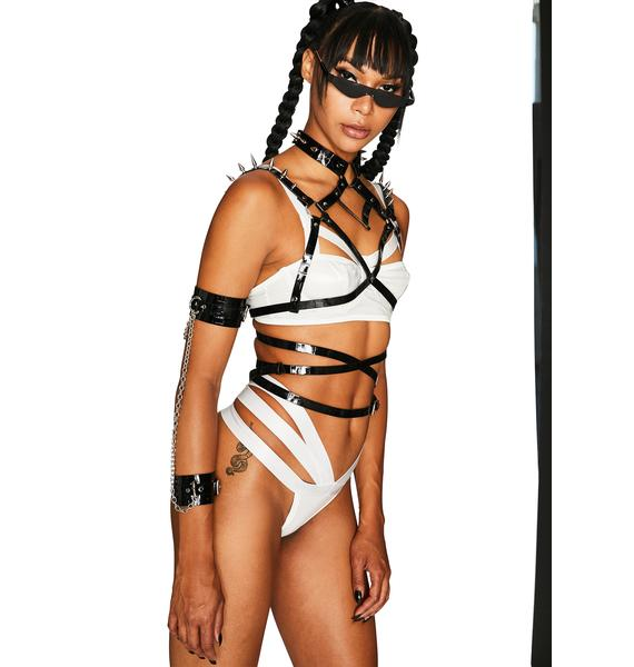 Club Exx Crystal Shattered Reality Bra Set