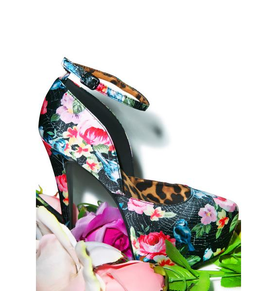 Iron Fist Pretty Bird Super Platform Heels