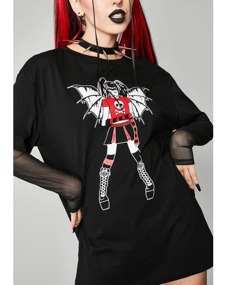 Miss Misery Layered Graphic Tee