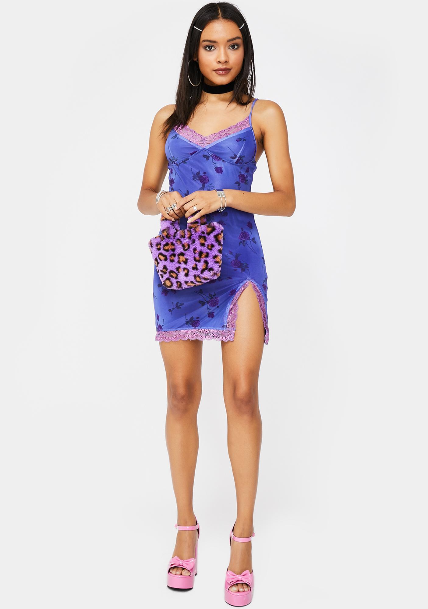 Motel Lilac Rose Coty Dress