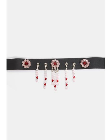 Flower Your Expectations Charm Choker