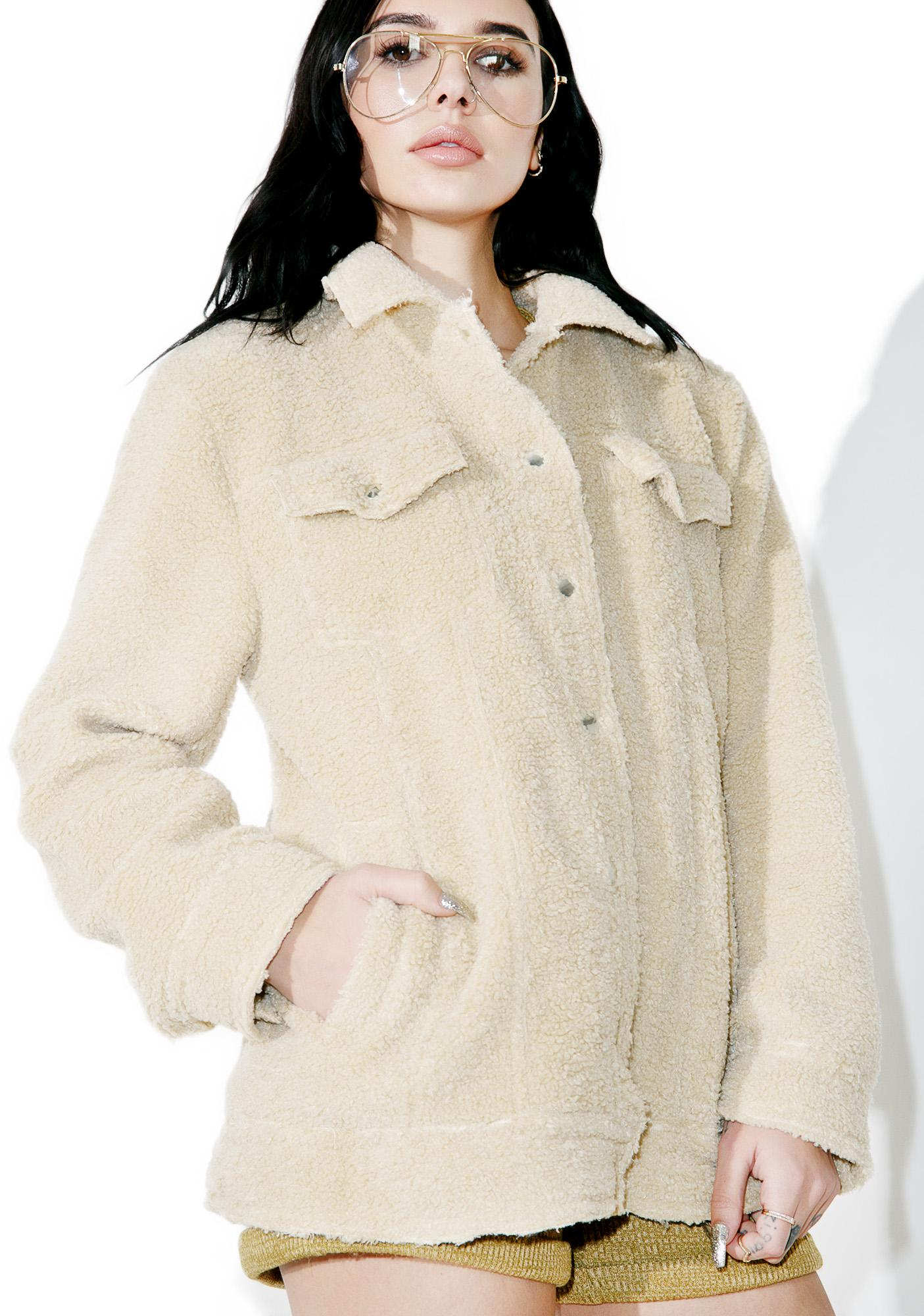 Buttermilk Shearling Jacket