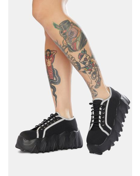 Black Easy Life Chunky Platform Sneakers