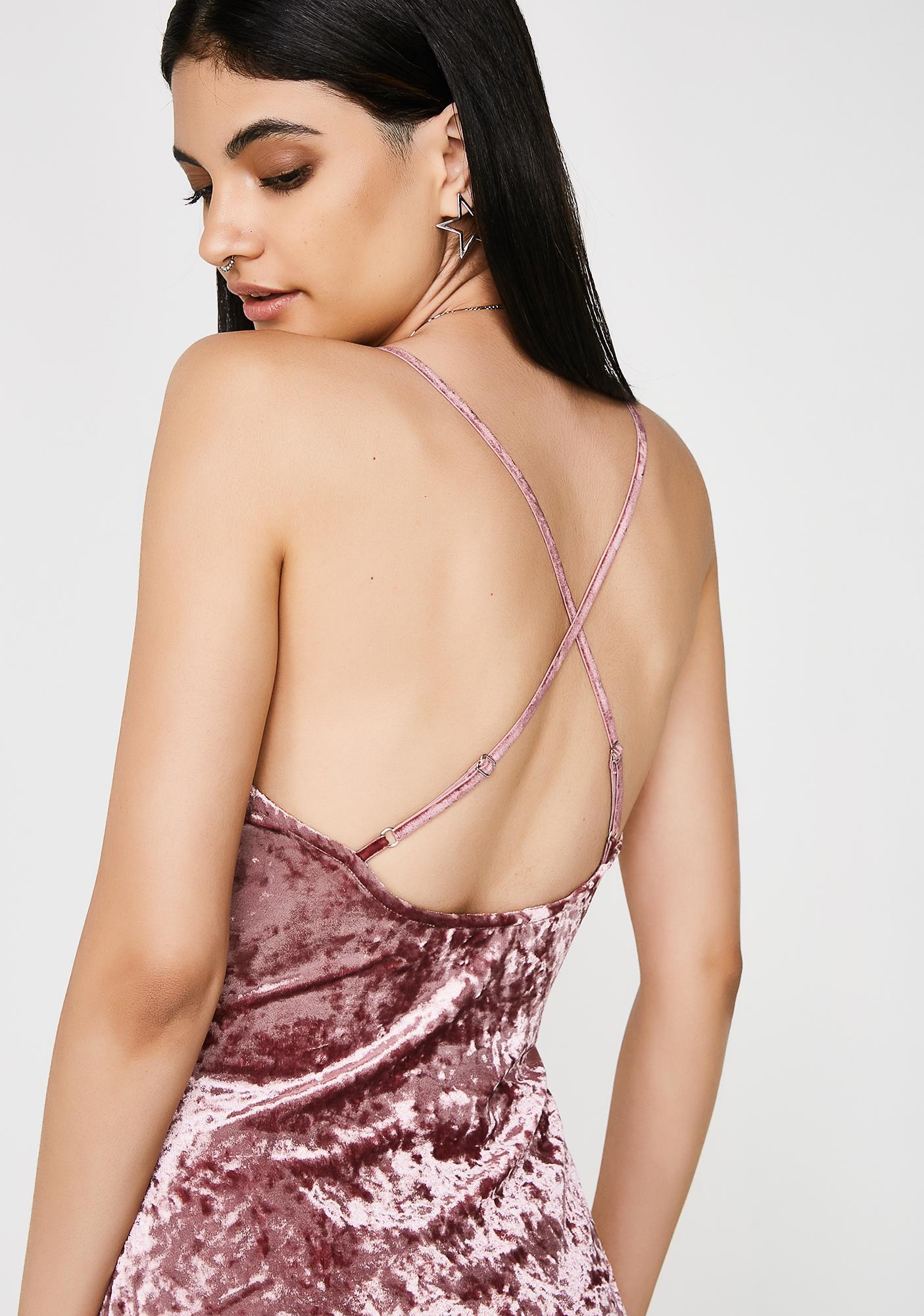 Get Real Velvet Bodysuit