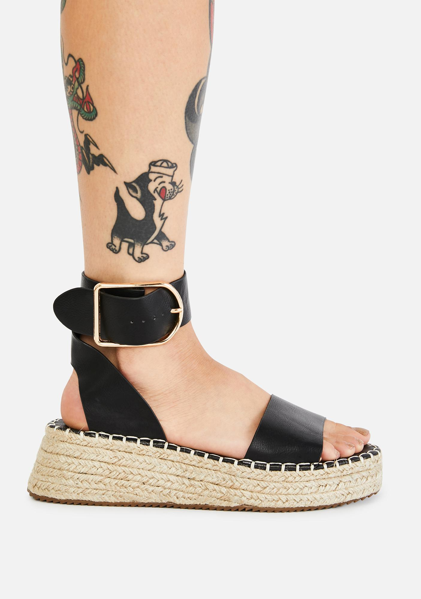 Piece Of Paradise Platform Sandals