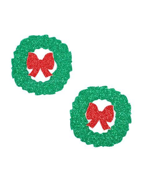 Wreath Glitter Pasties