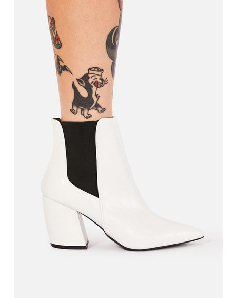 Croc Born Fierce Ankle Boots
