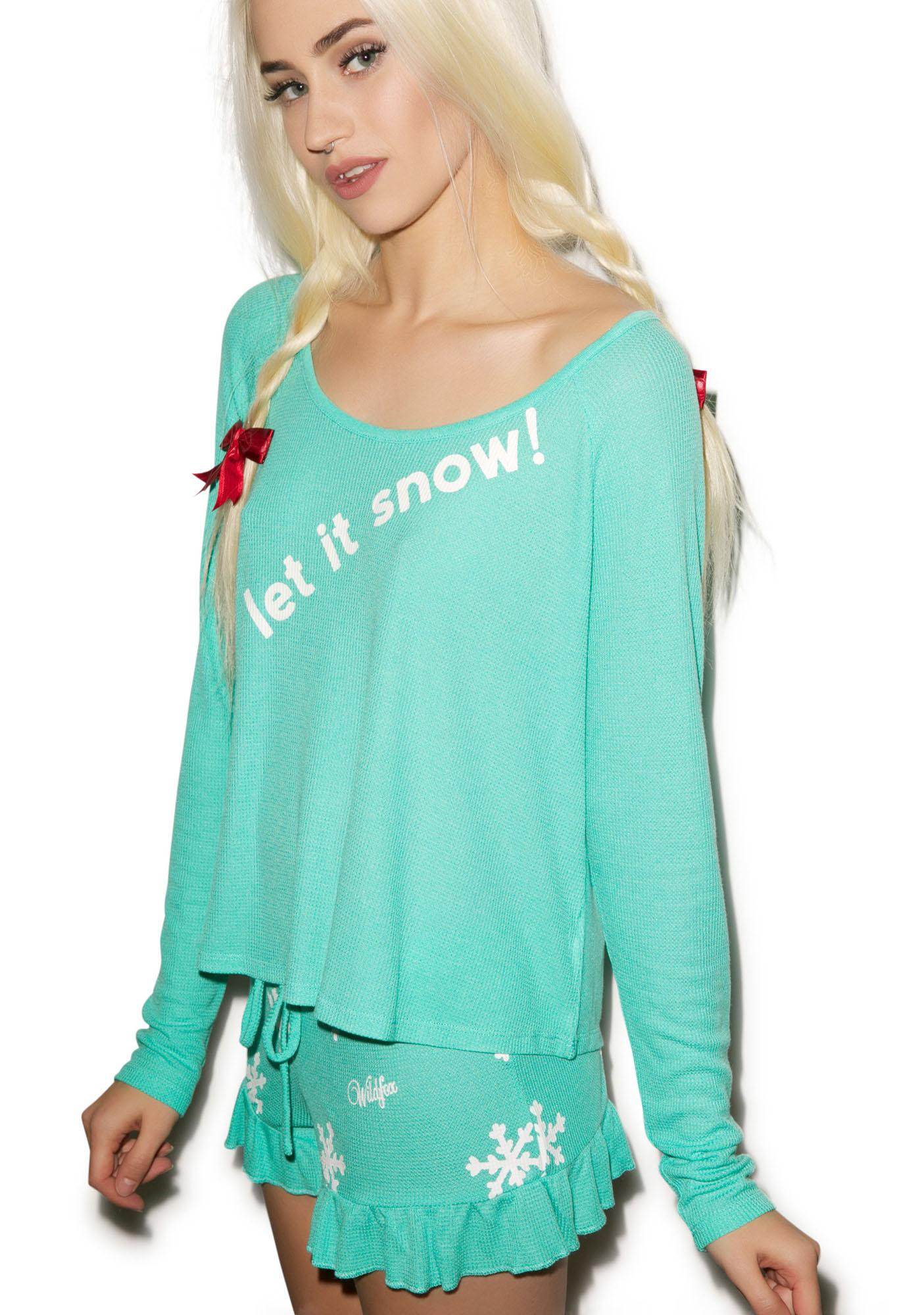 Wildfox Couture Let It Snow Cabin Fever Pajama Set
