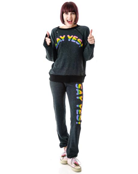 Say Yes Destroyed Sweater