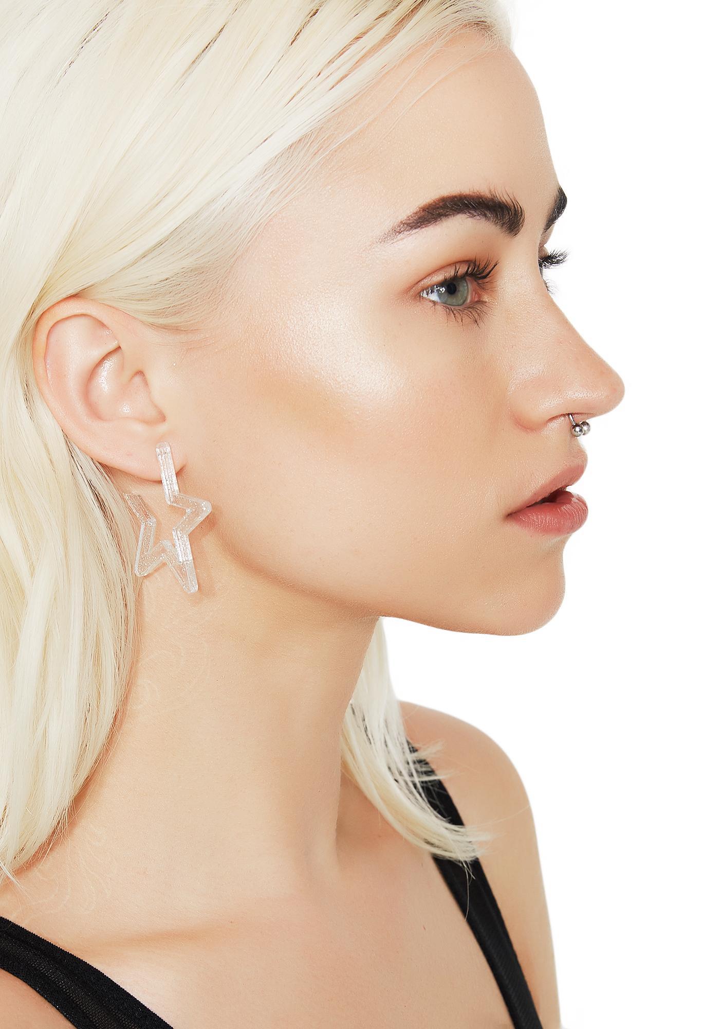 Starz In Your Eyes Hoop Earrings