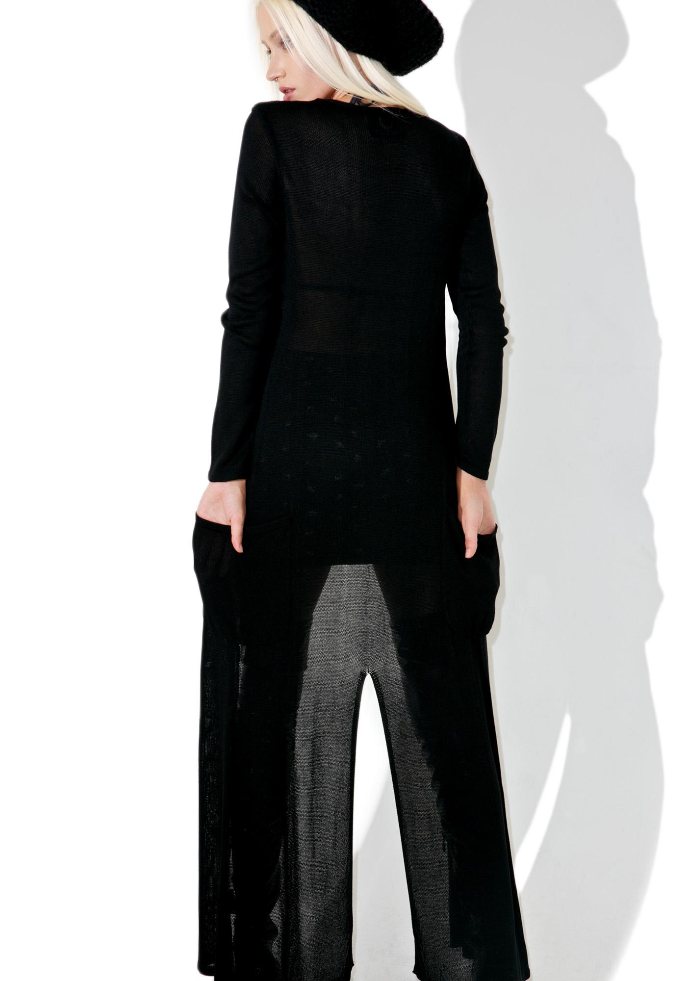 Killstar Space Dust Knit Cardigan