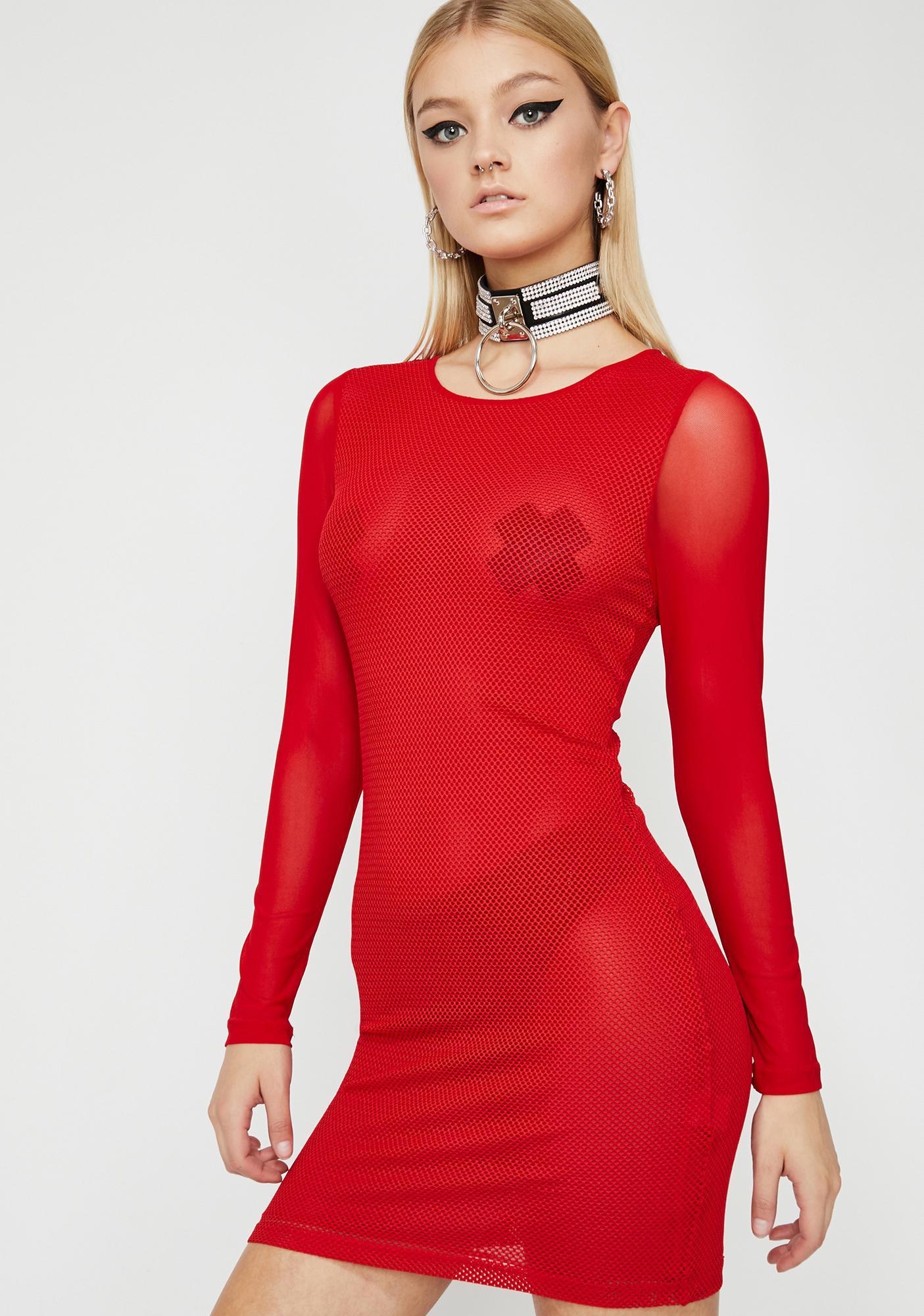 Love Tonightz Turmoil Sheer Dress