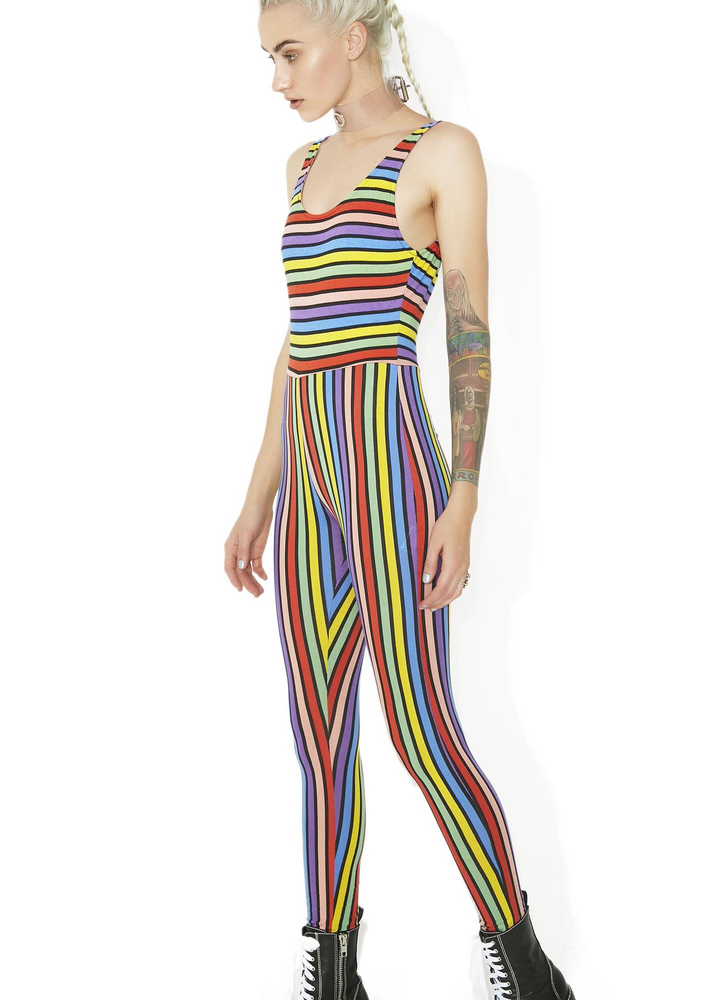 d5d91fdb56 ... Motel Over The Rainbow Striped Jumpsuit