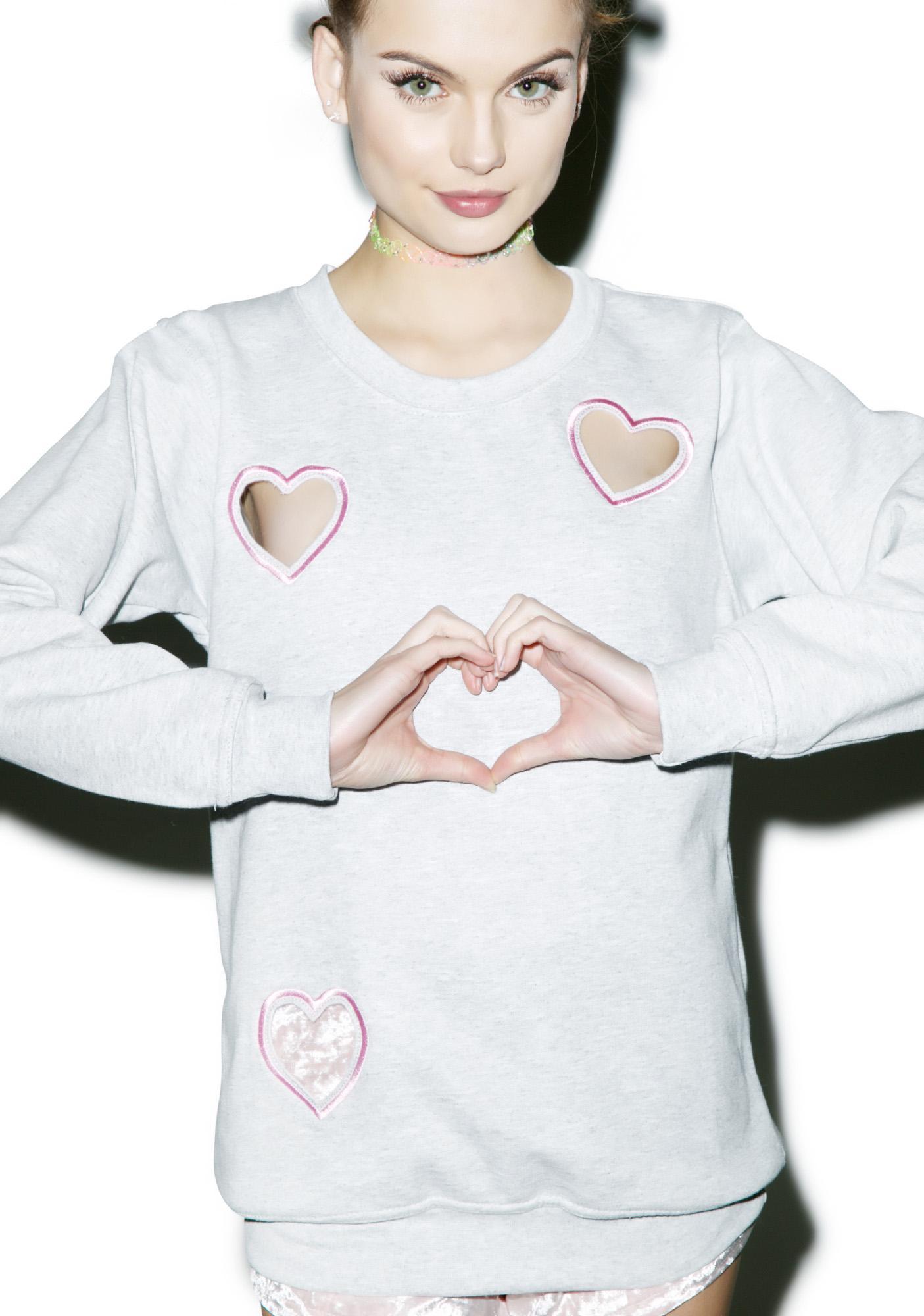 Local Heroes Transparent Heart Sweatshirt