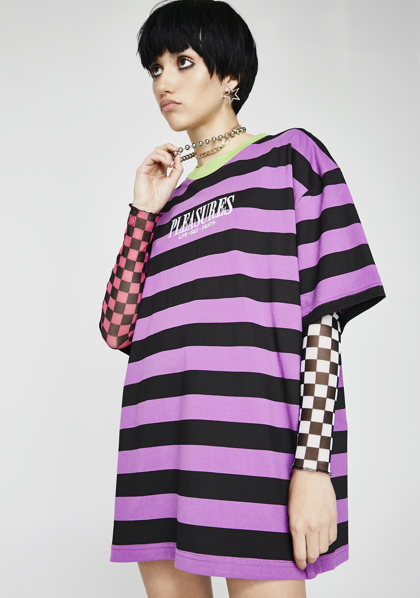 Pleasures LSD Stripe Shirt
