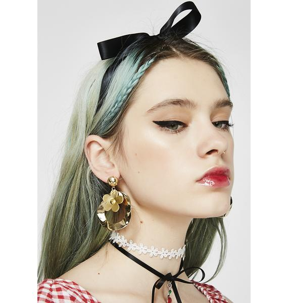 Keep Blooming Hoop Earrings
