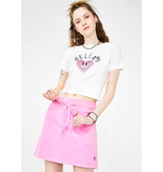 dELiA*s by Dolls Kill Bratty Behavior Velour Skirt