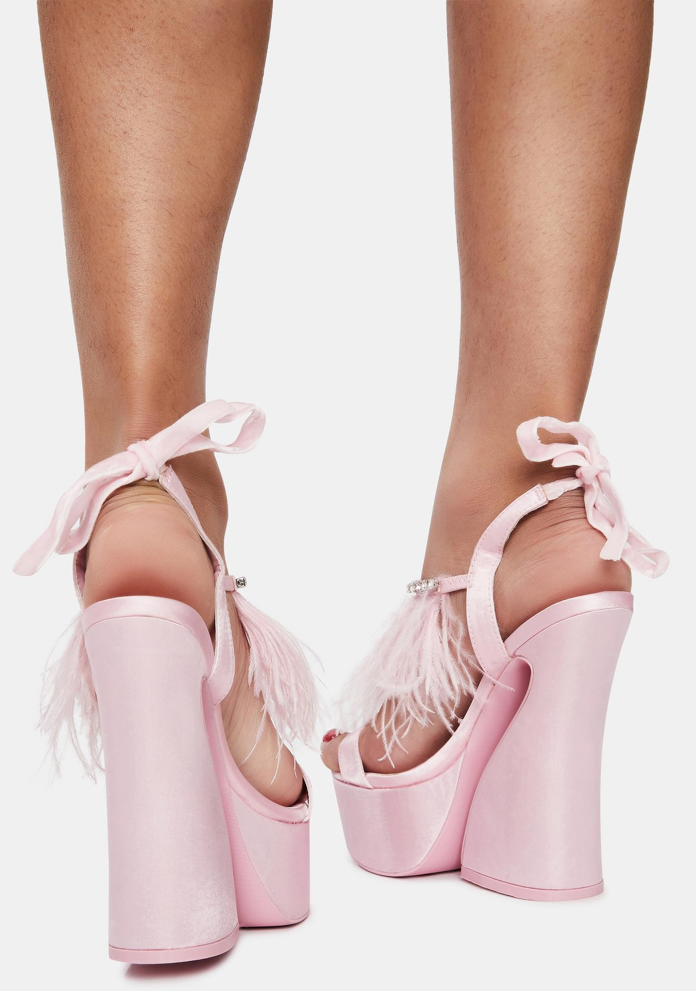 Sugar Thrillz Turn Up The Glam Feather Heels