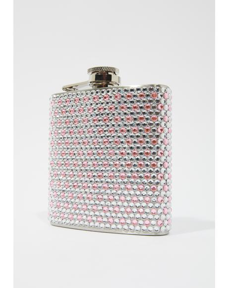 Sugar Shine Rhinestone Flask