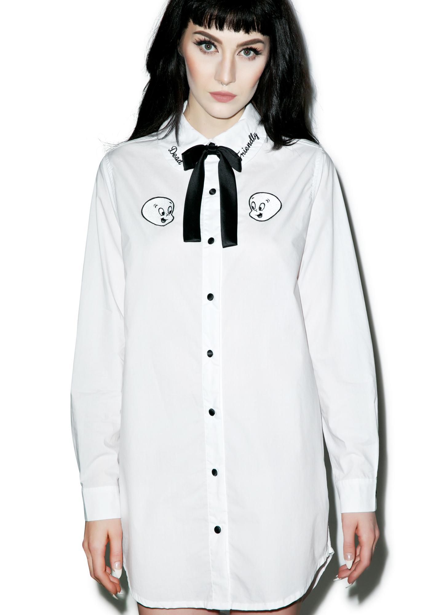 Lazy Oaf X Casper Friendly Dead Shirt