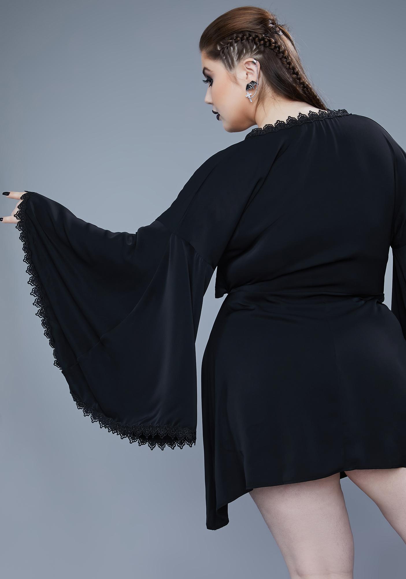 Widow At The World's End Kimono Sleeve Dress