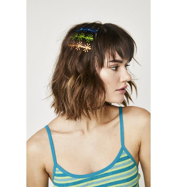 dELiA*s by Dolls Kill Vivid Life Flower Hair Pins