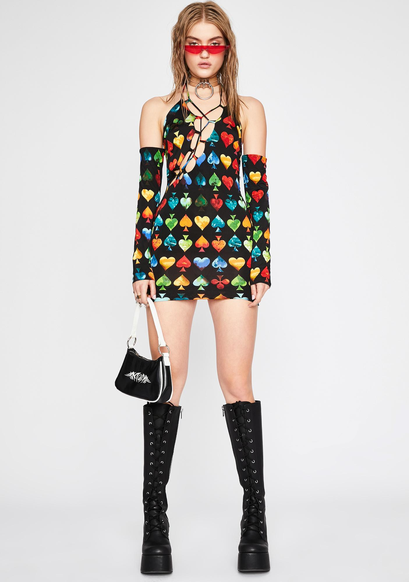 Play Your Cards Mini Dress