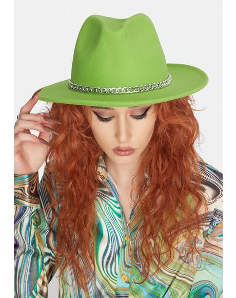 Kiwi Lose Myself Chain Wide Brim Hat