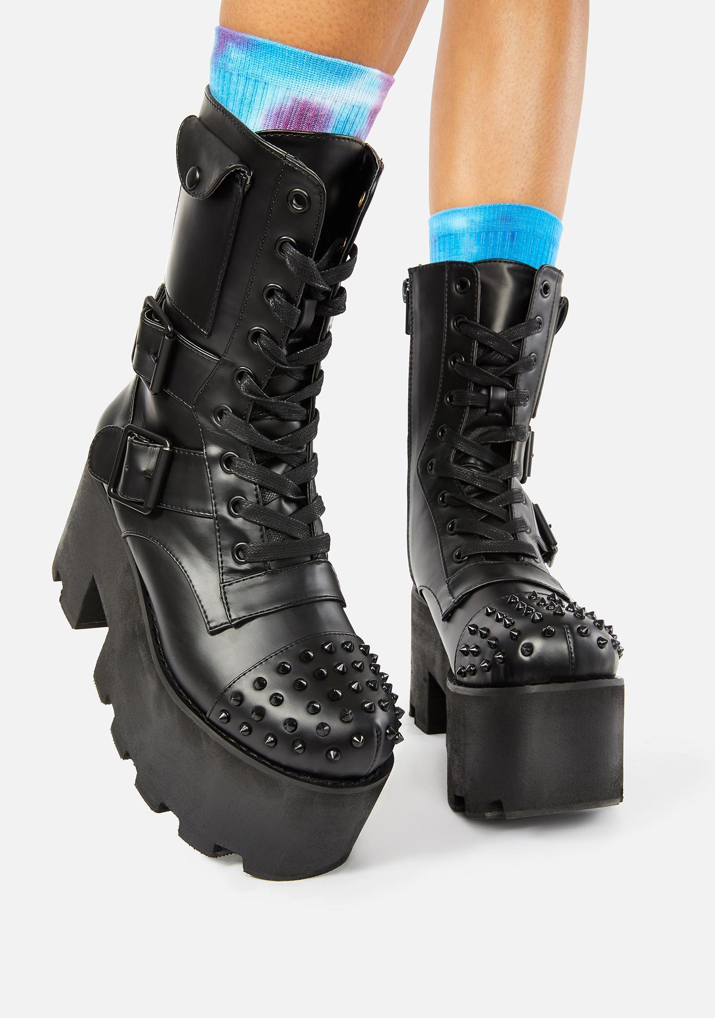 Charla Tedrick Blackout Combat Boots