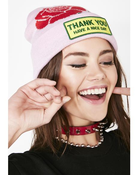 Thank You Rose Beanie