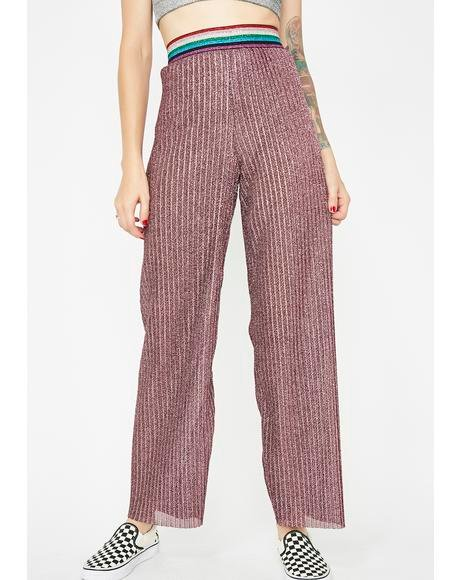 Glitter Me Up Wide Leg Pants