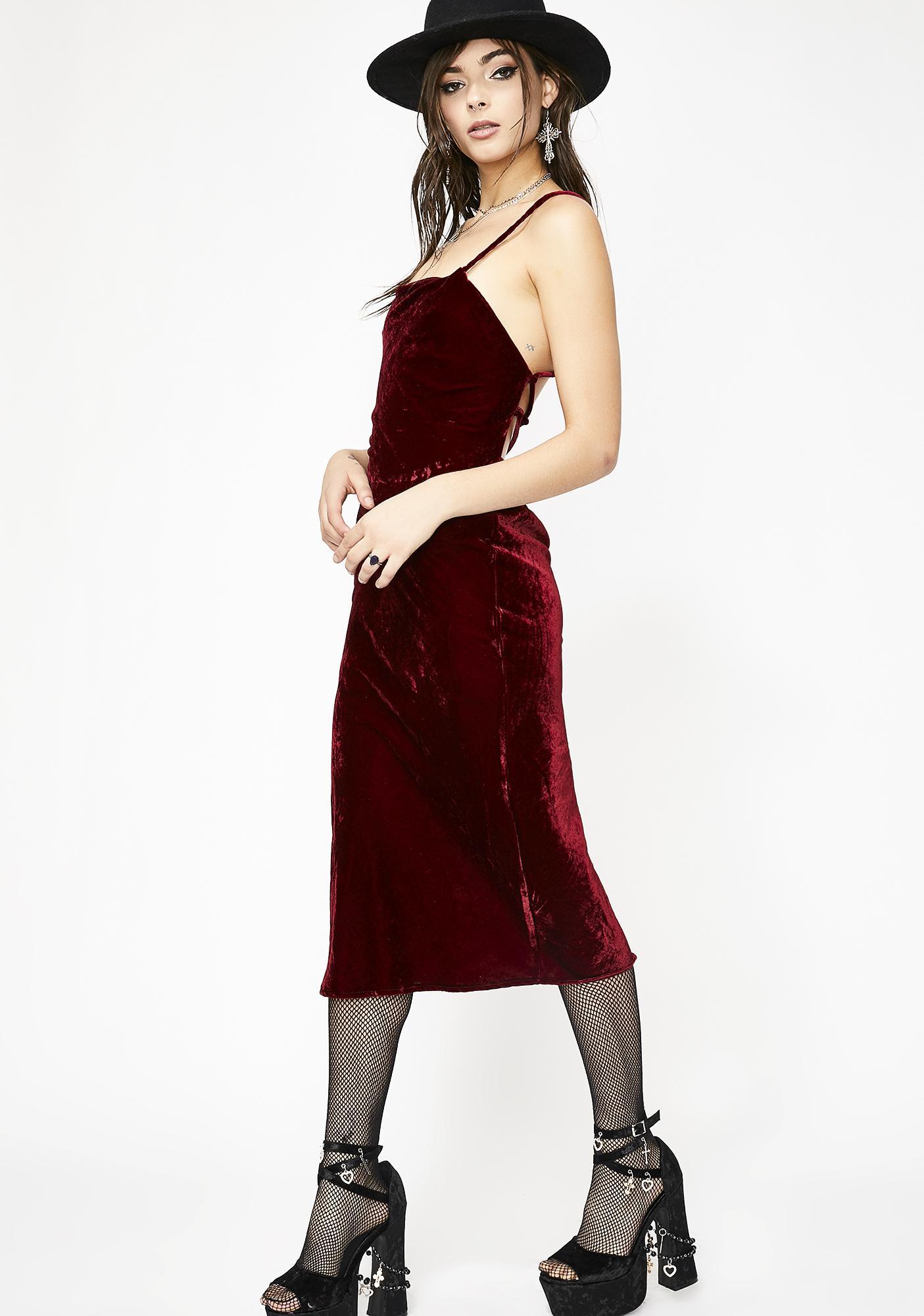 3080e86d48f Wine N  Dine Velvet Midi Dress