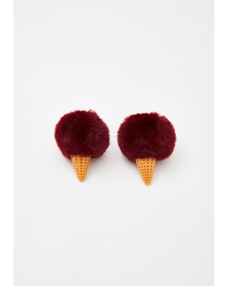 Red Velvet Bonbon Bliss Ice Cream Earrings