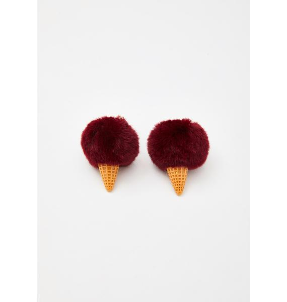 Red Velvet Bonbon Bliss Ice Cream Earrings